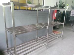 Prateleira em aço inox 304 para camara fria (Copy)